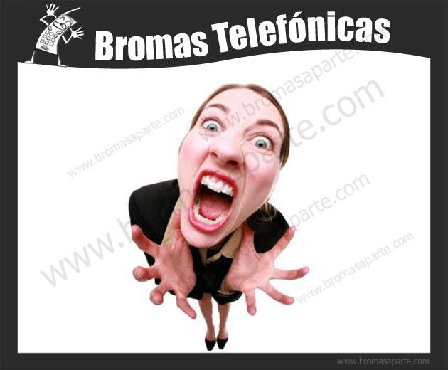 BromasAparte.com - Broma telefónica La regla de mi mujer