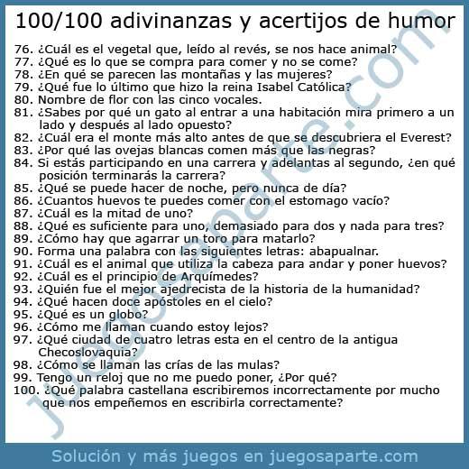 100-100 Adivinanzas y acertijos de humor