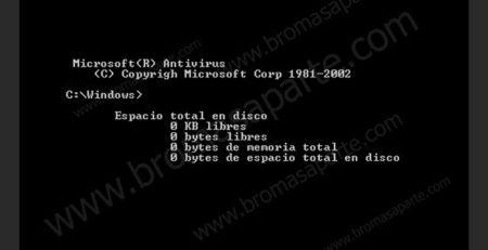 BromasAparte.com - Broma de virus MSDos
