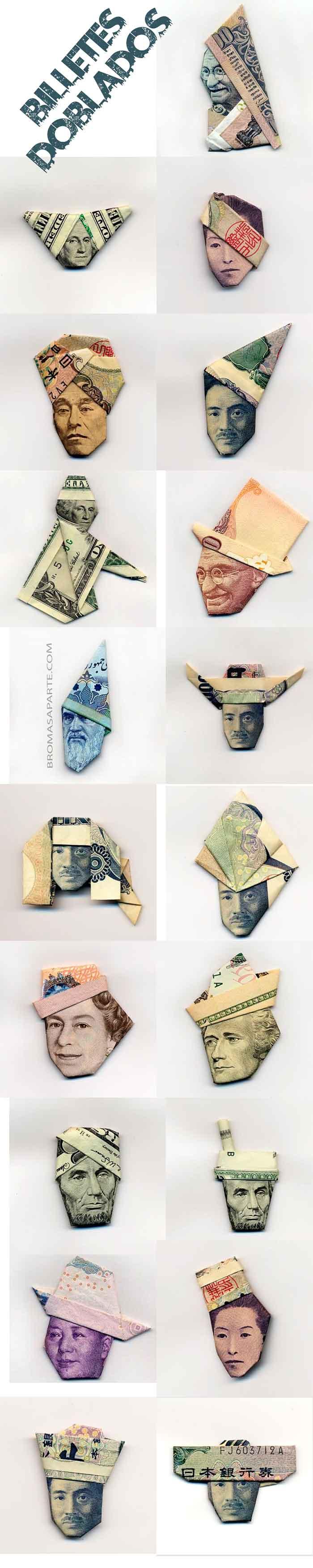 conjunto-de-billetes-doblados-haciendo-sombreros-bromasaparte
