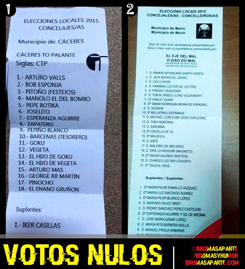 Votos nulos España, meme humor
